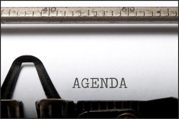 Require an agenda